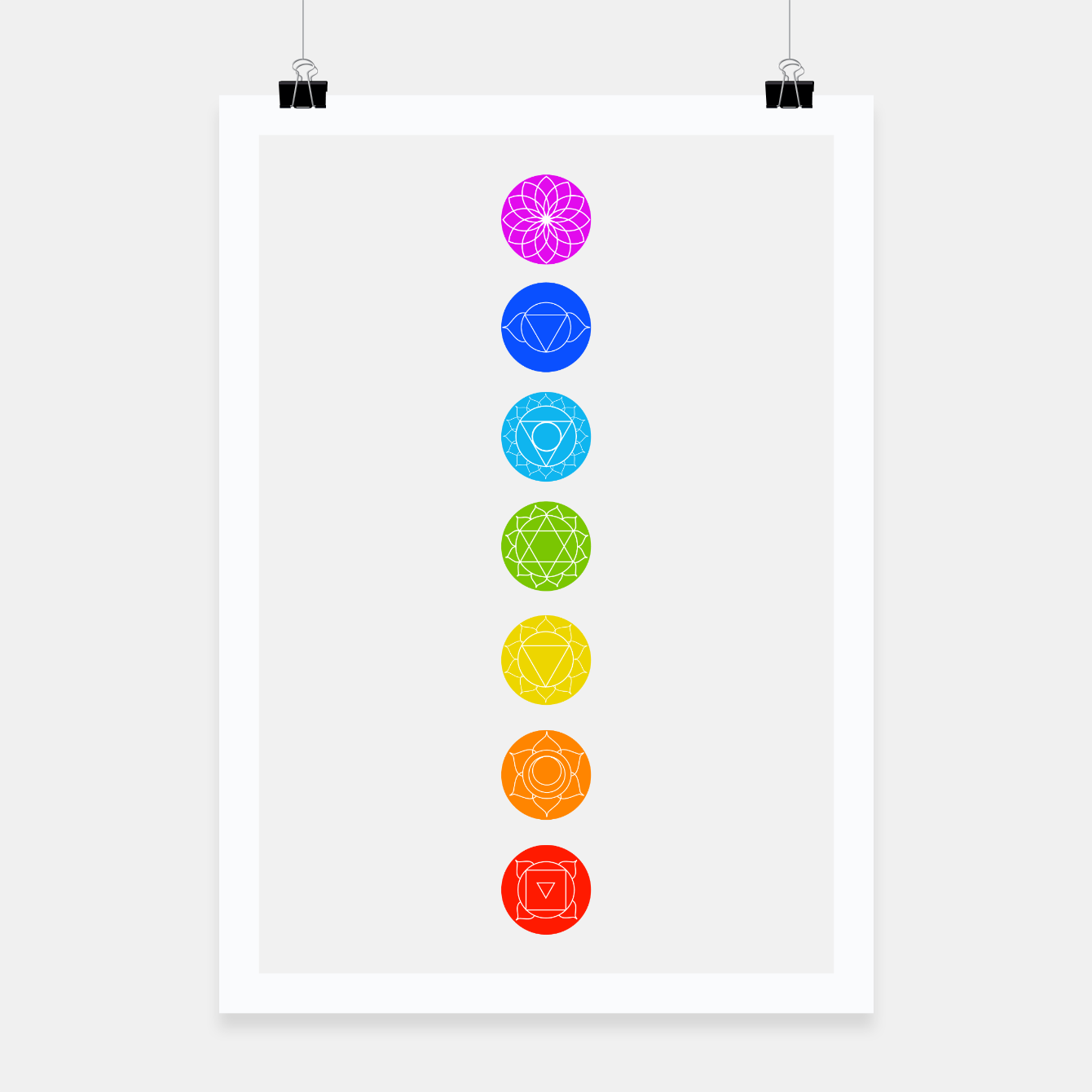 Image of Chakras of the human body Poster - Live Heroes