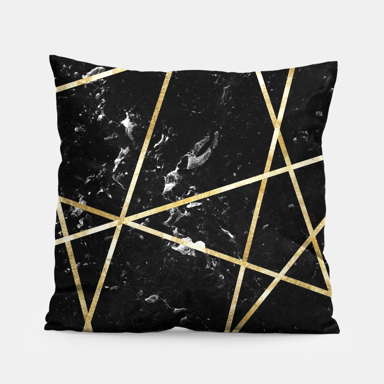Image of Black Marble Gold Geo Glam #1 #geo #decor #art  Kissen - Live Heroes