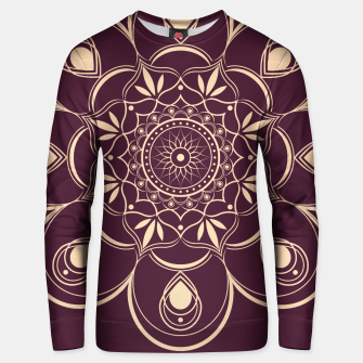 Thumbnail image of Burgundy and Yellow Mandala Unisex sweater, Live Heroes