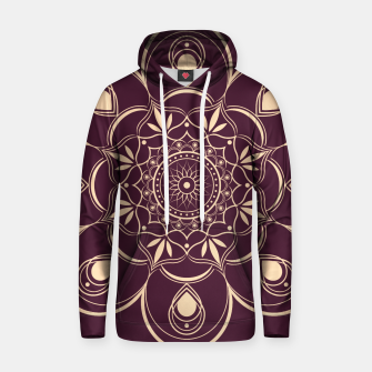 Thumbnail image of Burgundy and Yellow Mandala Hoodie, Live Heroes