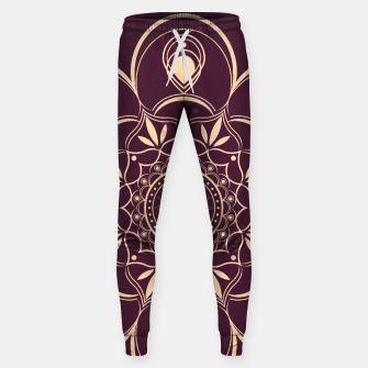 Thumbnail image of Burgundy and Yellow Mandala Sweatpants, Live Heroes