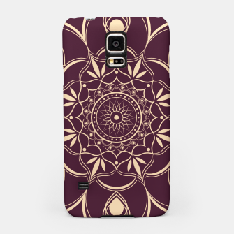 Thumbnail image of Burgundy and Yellow Mandala Samsung Case, Live Heroes