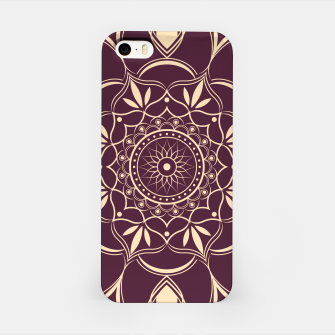 Thumbnail image of Burgundy and Yellow Mandala iPhone Case, Live Heroes