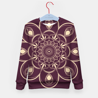 Thumbnail image of Burgundy and Yellow Mandala Kid's sweater, Live Heroes