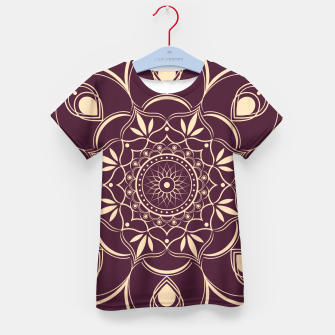 Thumbnail image of Burgundy and Yellow Mandala Kid's t-shirt, Live Heroes