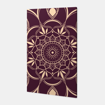 Thumbnail image of Burgundy and Yellow Mandala Canvas, Live Heroes