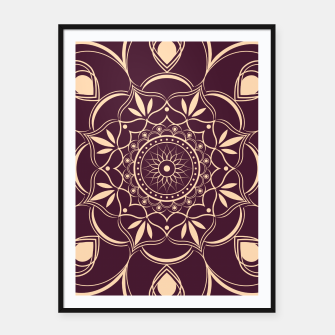 Thumbnail image of Burgundy and Yellow Mandala Framed poster, Live Heroes