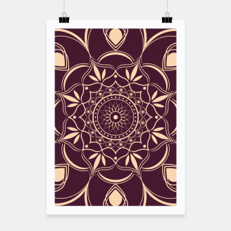 Thumbnail image of Burgundy and Yellow Mandala Poster, Live Heroes