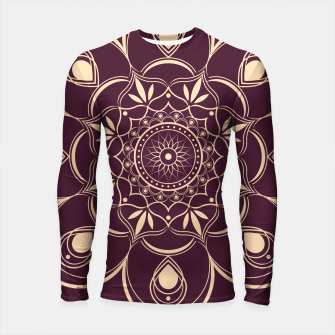 Thumbnail image of Burgundy and Yellow Mandala Longsleeve rashguard , Live Heroes