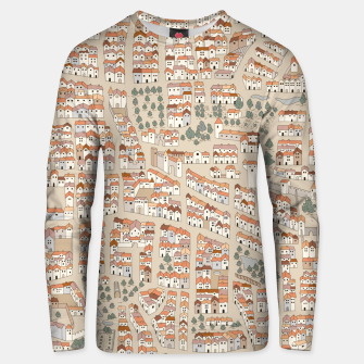 Miniatur Bird's-Eye View on Peaceful European Renaissance Provinces Unisex sweater, Live Heroes