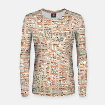 Miniatur Bird's-Eye View on Peaceful European Renaissance Provinces Women sweater, Live Heroes
