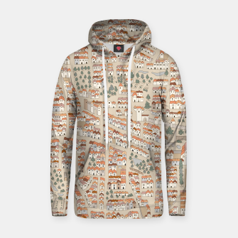 Miniatur Bird's-Eye View on Peaceful European Renaissance Provinces Hoodie, Live Heroes