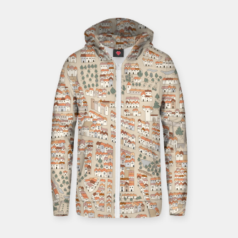 Miniatur Bird's-Eye View on Peaceful European Renaissance Provinces Zip up hoodie, Live Heroes