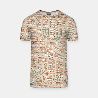 Miniatur Bird's-Eye View on Peaceful European Renaissance Provinces T-shirt, Live Heroes