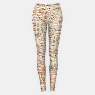 Miniatur Bird's-Eye View on Peaceful European Renaissance Provinces Leggings, Live Heroes
