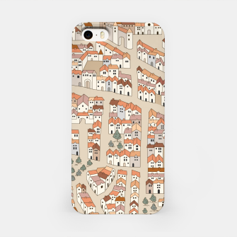 Miniatur Bird's-Eye View on Peaceful European Renaissance Provinces iPhone Case, Live Heroes