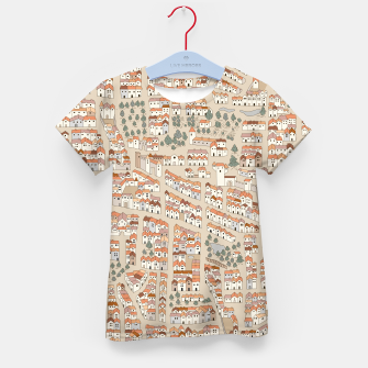 Miniatur Bird's-Eye View on Peaceful European Renaissance Provinces Kid's t-shirt, Live Heroes