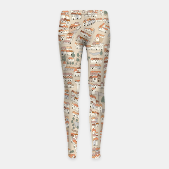 Miniatur Bird's-Eye View on Peaceful European Renaissance Provinces Girl's leggings, Live Heroes