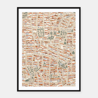 Miniatur Bird's-Eye View on Peaceful European Renaissance Provinces Framed poster, Live Heroes