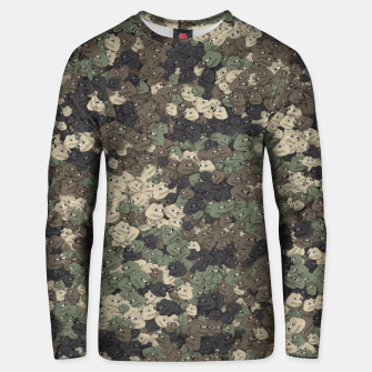 Thumbnail image of Sad frogs Pepe camo Unisex sweater, Live Heroes