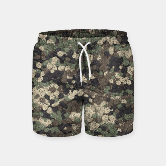 Thumbnail image of Sad frogs Pepe camo Swim Shorts, Live Heroes