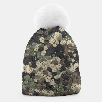 Thumbnail image of Sad frogs Pepe camo Beanie, Live Heroes