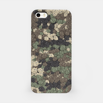Thumbnail image of Sad frogs Pepe camo iPhone Case, Live Heroes