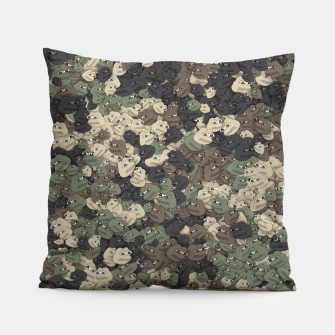 Miniature de image de Sad frogs Pepe camo Pillow, Live Heroes