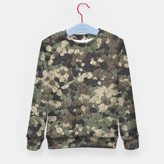 Thumbnail image of Sad frogs Pepe camo Kid's sweater, Live Heroes
