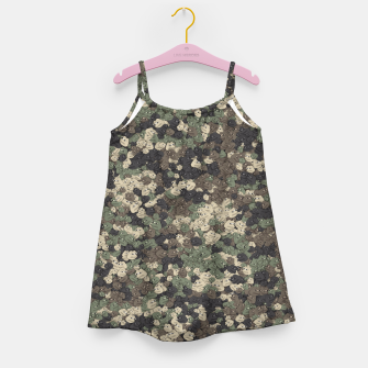 Thumbnail image of Sad frogs Pepe camo Girl's dress, Live Heroes