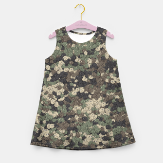 Thumbnail image of Sad frogs Pepe camo Girl's summer dress, Live Heroes