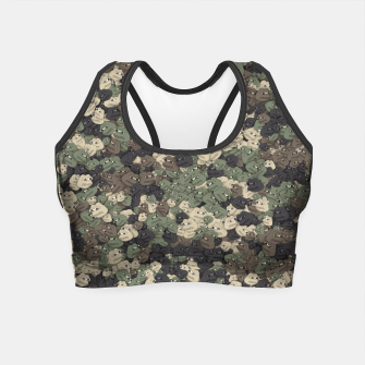 Thumbnail image of Sad frogs Pepe camo Crop Top, Live Heroes