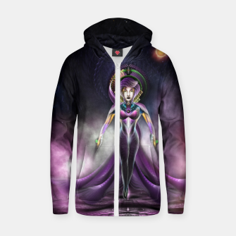 Miniaturka The Beauty Of Trilia Fractal Art Portrait Zm Zip Up Hoodie, Live Heroes
