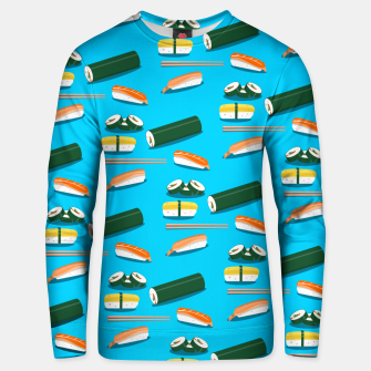 Miniatur Sushi Pattern Unisex sweater, Live Heroes
