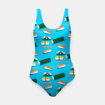 Miniatur Sushi Pattern Swimsuit, Live Heroes