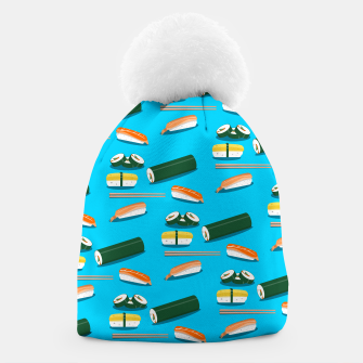 Miniatur Sushi Pattern Beanie, Live Heroes