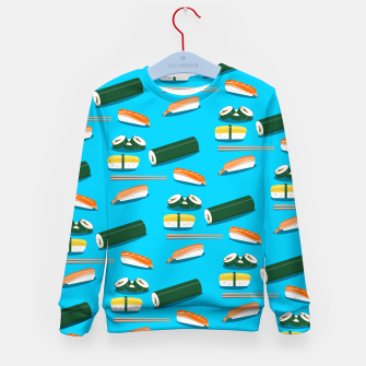 Miniatur Sushi Pattern Kid's sweater, Live Heroes