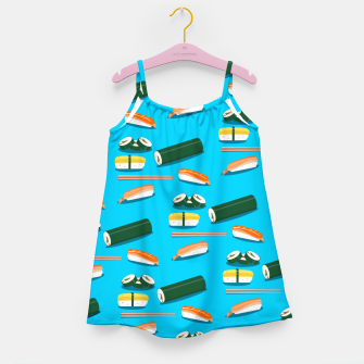 Miniatur Sushi Pattern Girl's dress, Live Heroes