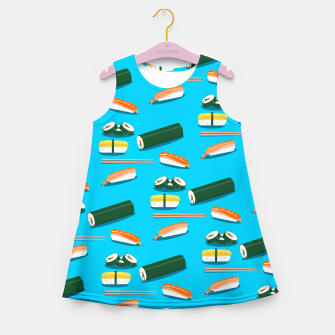 Miniatur Sushi Pattern Girl's summer dress, Live Heroes