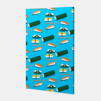 Miniatur Sushi Pattern Canvas, Live Heroes
