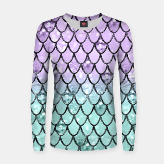 Thumbnail image of Mermaid Princess Glitter Scales #2 #shiny #pastel #decor #art  Frauen sweatshirt, Live Heroes