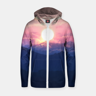 Thumbnail image of Starry Sunsets Zip up hoodie, Live Heroes