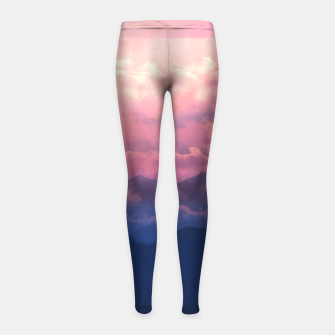 Thumbnail image of Starry Sunsets Girl's leggings, Live Heroes
