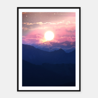 Thumbnail image of Starry Sunsets Framed poster, Live Heroes