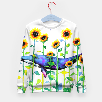 Thumbnail image of wandering whale Kid's sweater, Live Heroes