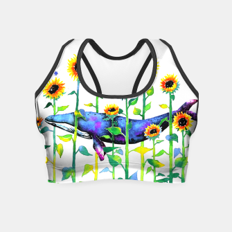 Thumbnail image of wandering whale Crop Top, Live Heroes