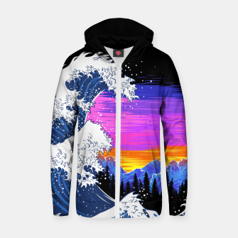 Thumbnail image of The Wave Sudadera con capucha y cremallera , Live Heroes