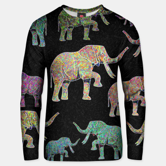 Thumbnail image of elephant Unisex sweater, Live Heroes