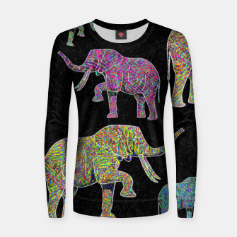 Thumbnail image of elephant Women sweater, Live Heroes