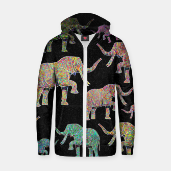 Thumbnail image of elephant Zip up hoodie, Live Heroes